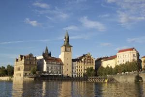 Prague vue de la Vltava