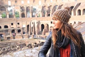 La fille à l'envers au Colisée