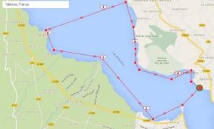 Tracé course longue 13 km