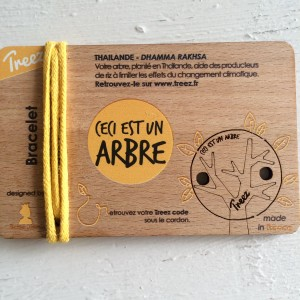 """Bracelet TREEZ original Forêt Thailandaise """"ceci est un arbre"""""""