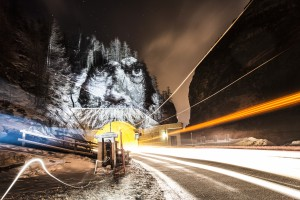 Painting With Lights Val d'isere Janvier 2015 philippe echaroux photo street art