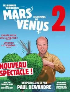 Les hommes viennent de mars et les famme de Vénus 2 spectacle