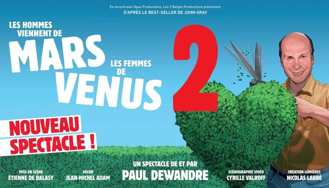 les hommes viennent de mars et les femmes de vénus 2 spectacle marseille theatre sudconcerts