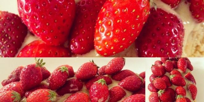 Recette gâteau aux fraises healthy