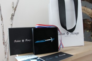 bijoux createur ruban rouge ancre bracelet