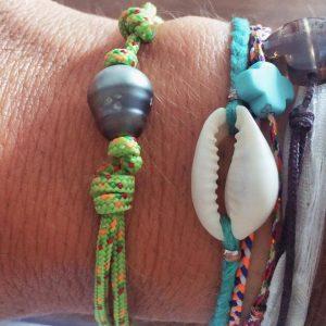 bracelet tahitien la fille à l'envers