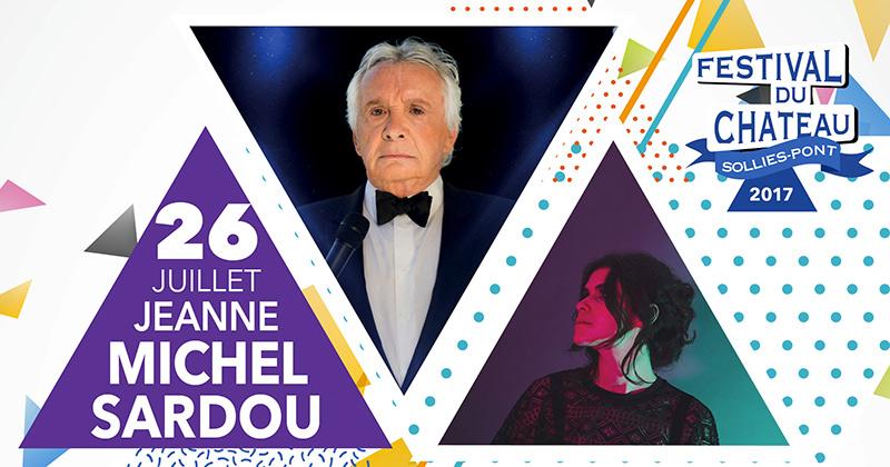 Michel sardou et jeanne concert festival