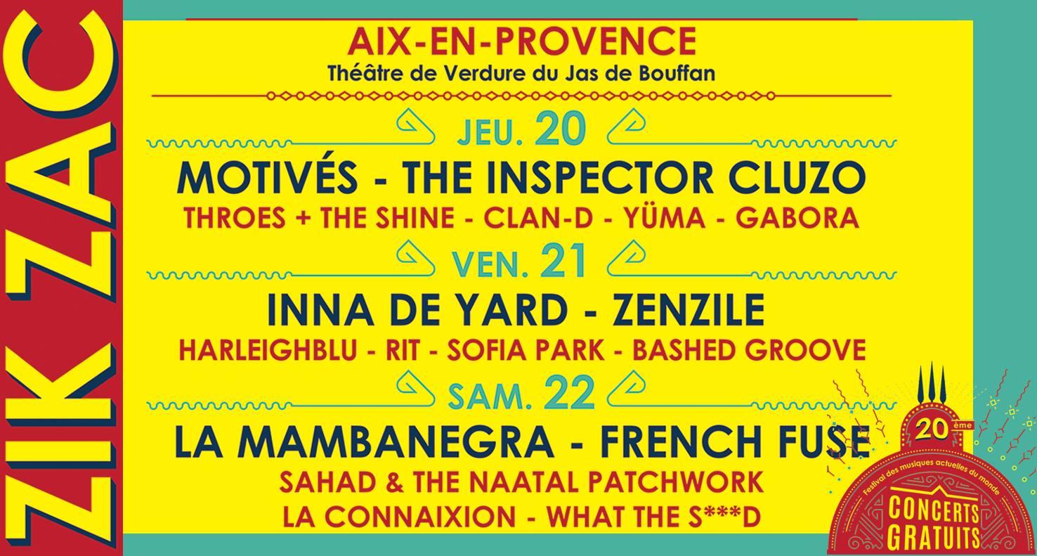 Zik Zac Festival 2017 aix en provence