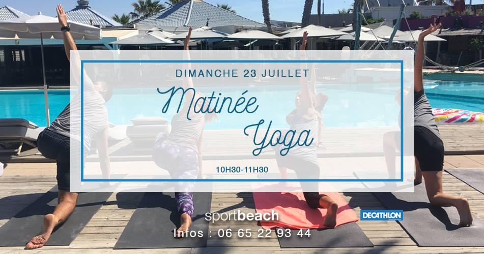 matinée yoga au sport beach