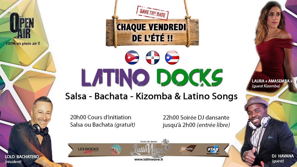 Soirée 100 % latino aux Docks