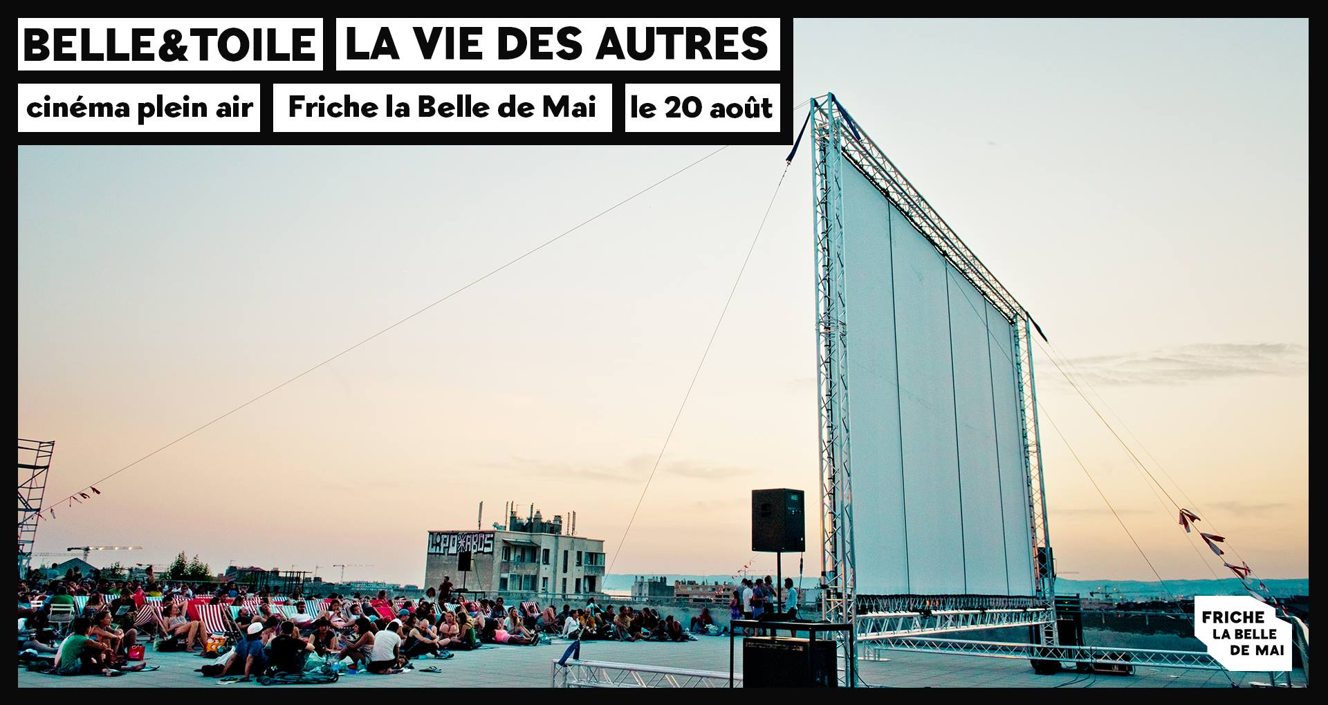 belle&toile cinema plein air marseille