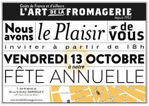 Fête annuelle de L'Art de la Fromagerie.