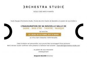 Inauguration du nouveau site d'Orchestra Studio Marseille