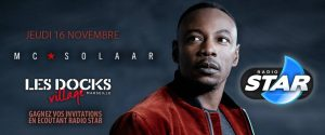 Emission en live Star Radio avec MC Solaar aux Docks Village.
