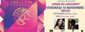 apero lancement festival Meltin Art