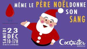Meme le pere Noel donne son sang