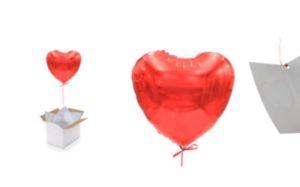 livrer un ballon . com saint valentin