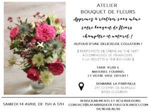 Atelier bouquet de fleurs champêtre