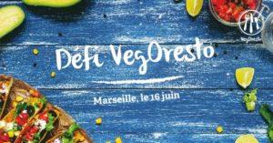 Marseille . Défi VegOresto . Déjeuner vegan