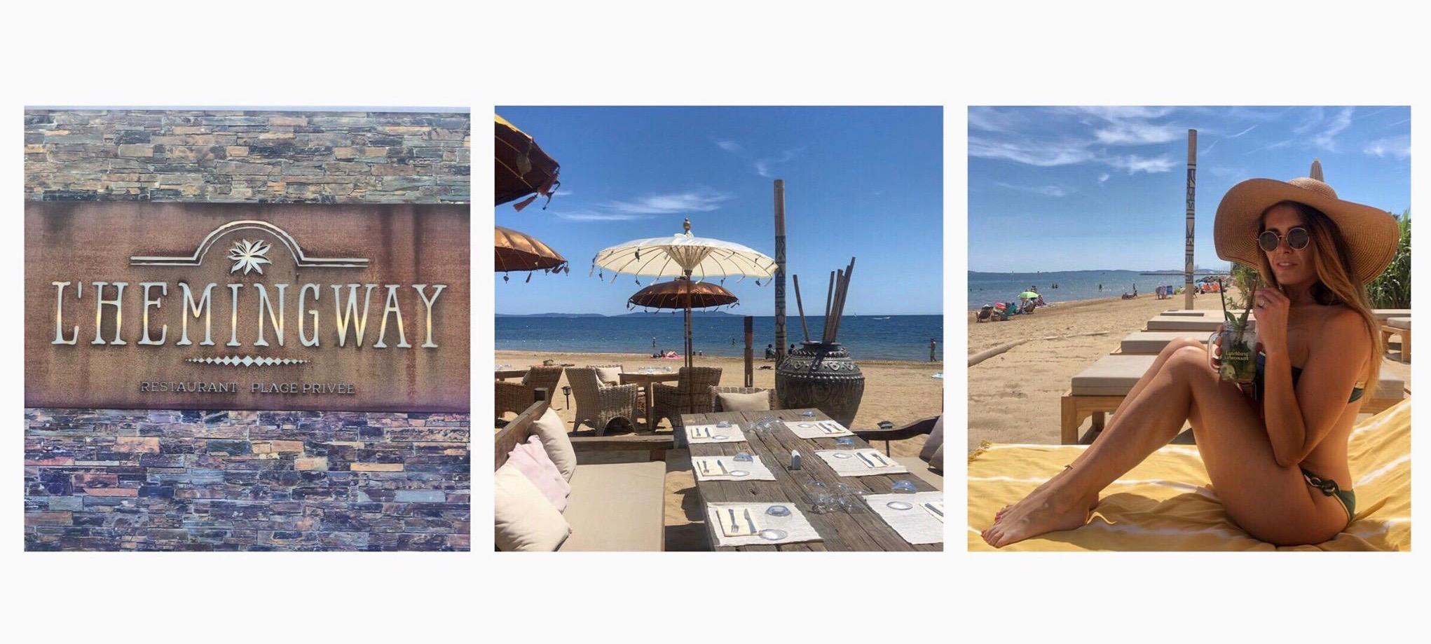 restaurant l'Hemingway plage privée var