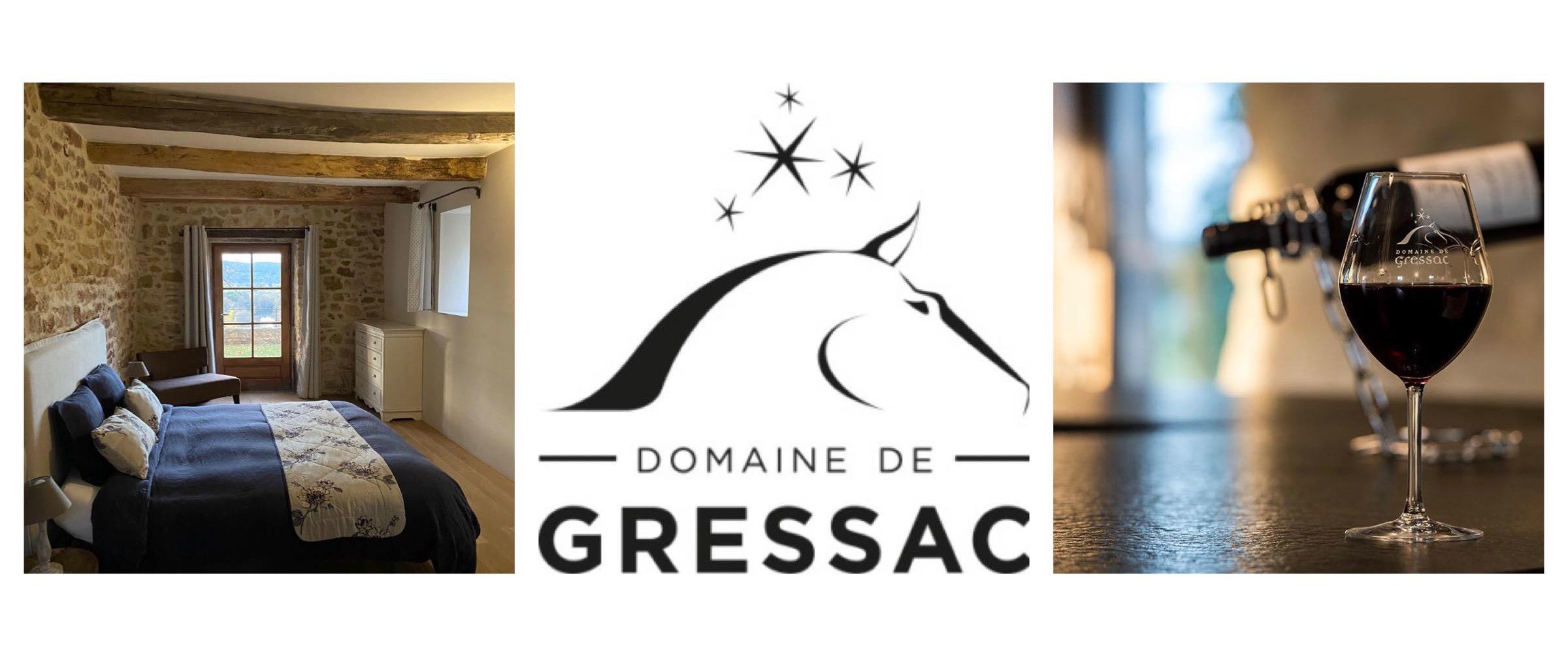 Domaine de Gressac Gite haut de gamme vin chevaux